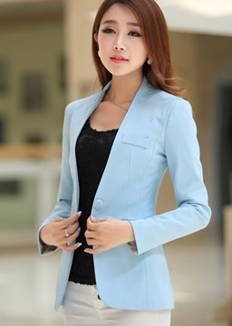Ericdress Simple Candy Color Long Sleeves Blazers