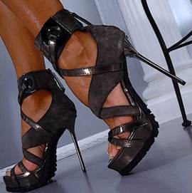 Queen Style Ankle Strap Stiletto Sandals