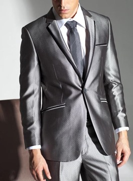 Ericdress Patched Vogue Slim Men's Suit
