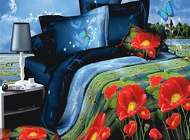 The Lotus Pool By Moonlight 3D Bedding Sets