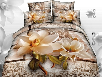 The Most Beautiful Love Magnolia 3D Bedding Sets