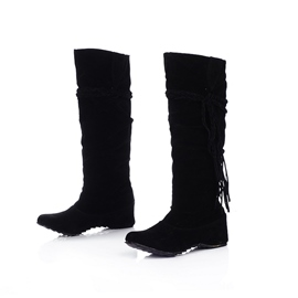 Ericdress Charming Suede Tassels Knee High Boots