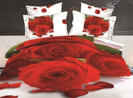 Noble and Roses Print 3D Bedding Sets