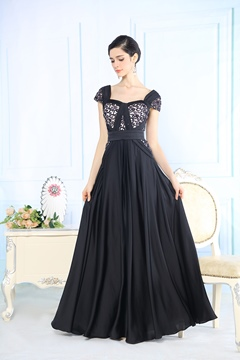 Elegant Appliques Floor Length Prom/ Evening Dress