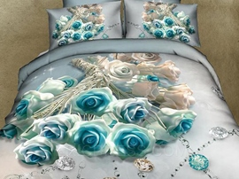 Cozy Bouquet of Roses 3D Bedding Sets
