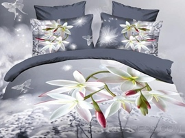 Dreaming and Romantic Flowers Print 3D Bedding Sets