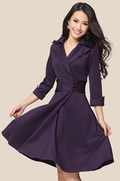 Ericdress Classy Three Quarter Sleeve Casual Dress