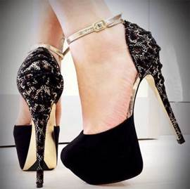Amazing Contrast Color Ankle Strap Prom Shoes