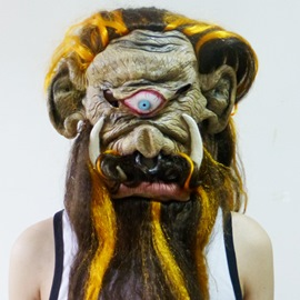Halloween Terrorist Long Hair Monster Mask