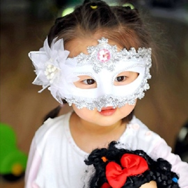 Halloween Cute Lace Flower Half Face Mask