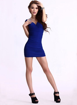 Perfect Sheath Cap Sleeves V-Neck Little Party Dress