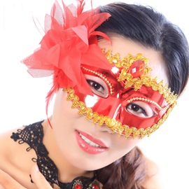 Attractive Half-face Halloween Party Princess Mask