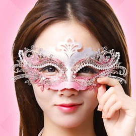 Halloween Dancing Party Princess Half Face Mask