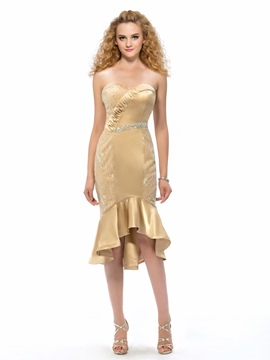 Charming Sweetheart Mermaid High Low Cocktail Dress