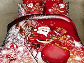 Santa Claus 100% Cotton Kids Bedding Sets