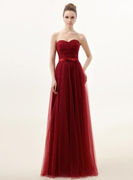 Fascinating Sweetheart Floor-Length Bowknot Evening/Prom Dress