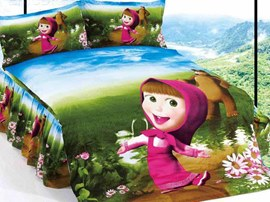 Pretty Martha Girl Cotton Cartoon Kids Bedding Sets