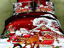 Happy Christmas Santa Claus Kids Bedding Sets
