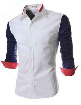 Quality Men Spicing Sleeve Casual Shirt