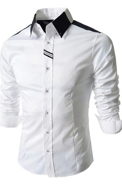 Ericdress Epidemic Lapel Single-Breasted Men's Shirt