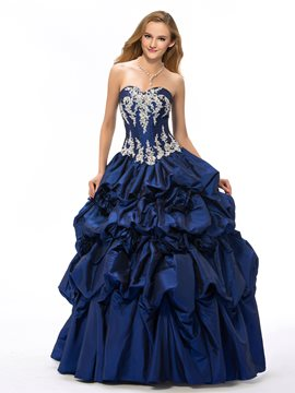 Charming Sweetheart Neckline Applique Lace-Up Ball Gown Dress