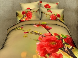 Stereoscopic 3d Plum Bedding Sets