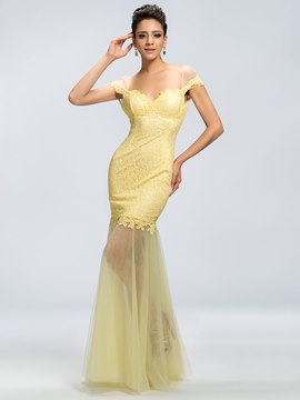 Mermaid Lace Backless Floor-Length Evening Dress