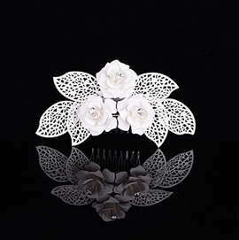Pretty Brides' Three Flowers Alloy with Rhinestone Wedding Tiara