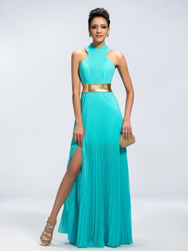 Classy Vogue A-Line Split-Front Evening Dress