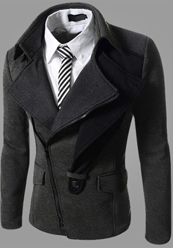 Ericdress Patchwork Oblique Zip Men's Blazer