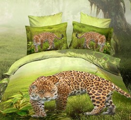 Leopard Forests 4-Piece 3d Bedding Sets