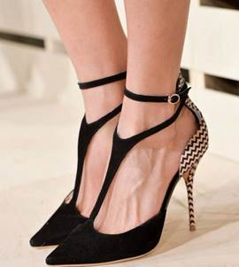 Ericdress Sexy Patchwork Point Toe Stiletto Sandals