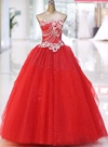 Charming Ball Gown Sweetheart Beading Sequins Wedding Dress