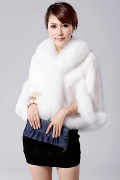 Ericdress Elegant Plain Faux Fur Cape