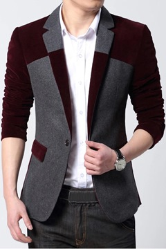 Business Casual Split Joint Men's Wool Coat