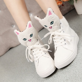 Sweet Carton Cat Ankle Boots