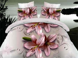 Cute Lily Print 3D Bedding Sets