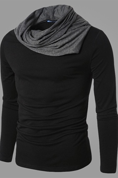 Lapel Long Sleeve Men's Knitwear