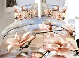 Stunning Gardenia 4 Piece 3D Bedding Sets