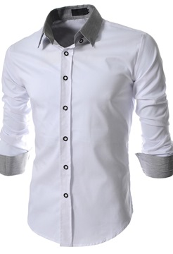 Lapel Single-Breasted Men's Shirt