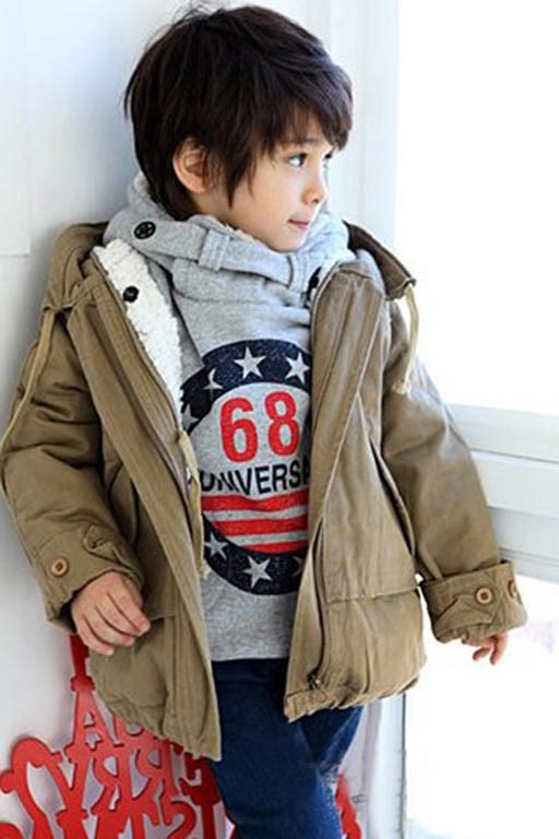 Long Trench Coat Boys Outerwear