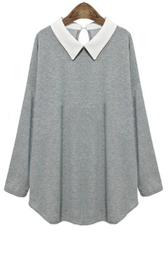 Ericdress Color Block Long Sleeve Knitwear