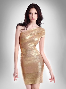 Sparkling One-Shoulder Sheath Little Party Dress