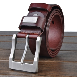Ericdress Men's Cowhide Pin Buckle Belt