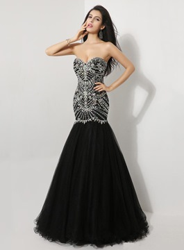 Popular Sweetheart Mermaid Floor-Length Evening Dress