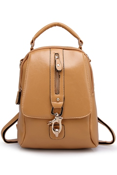 Popular Zipper Buckle PU Backpack