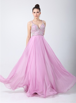 Timeless A-line Criss-cross Floor-Length Prom Dress