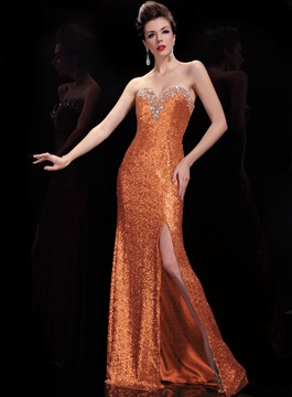 Classy A-Line Sweetheart Sequins Evening Dress