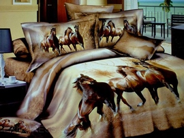 Thousands of Horses are Galloping 3D Bedding Sets
