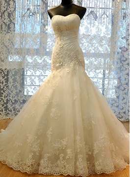 Ericdress Amazing Appliques Sweetheart Sheath Wedding Dress